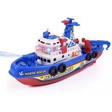 Barco de fogo elétrico música luminosa spray de água modelo de brinquedo navio criativo das crianças navio militar modelo de brinquedo presente para crianças