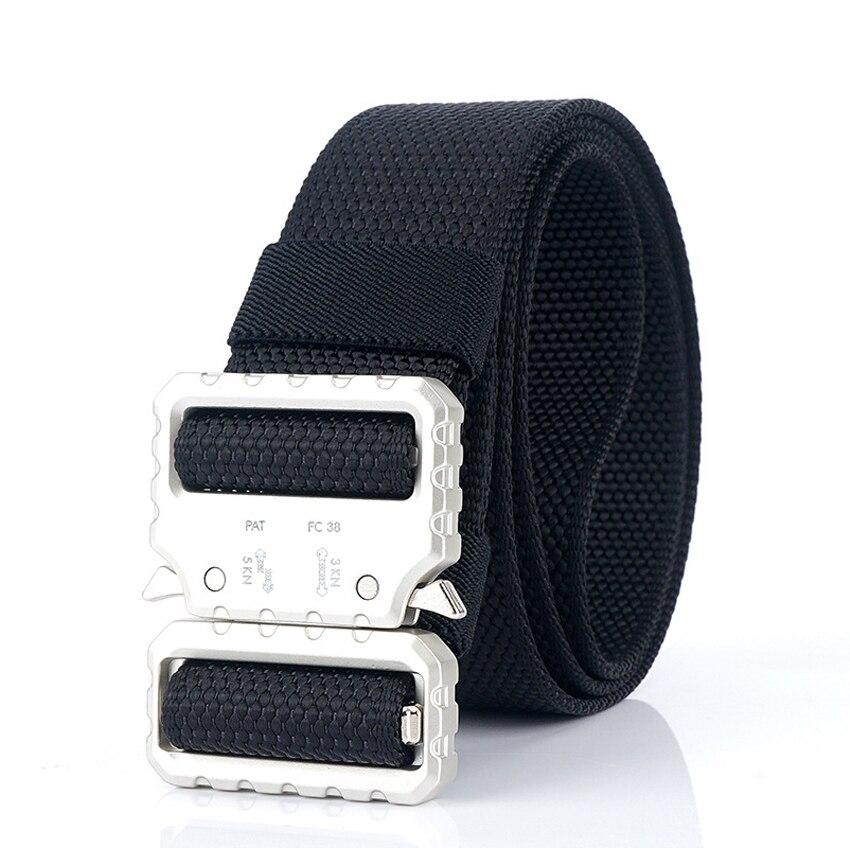 Military Nylon Belt Mens Belt Metal Buckle Jeans Belt