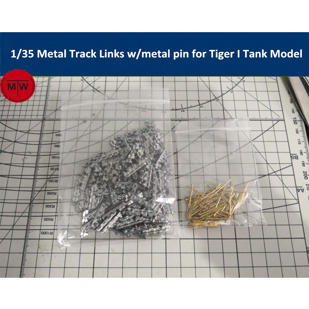 <font><b>1</b></font>/<font><b>35</b></font> Scale Metal Track Links for German Tiger 1w/metal pin Tank Model <font><b>Kit</b></font> image