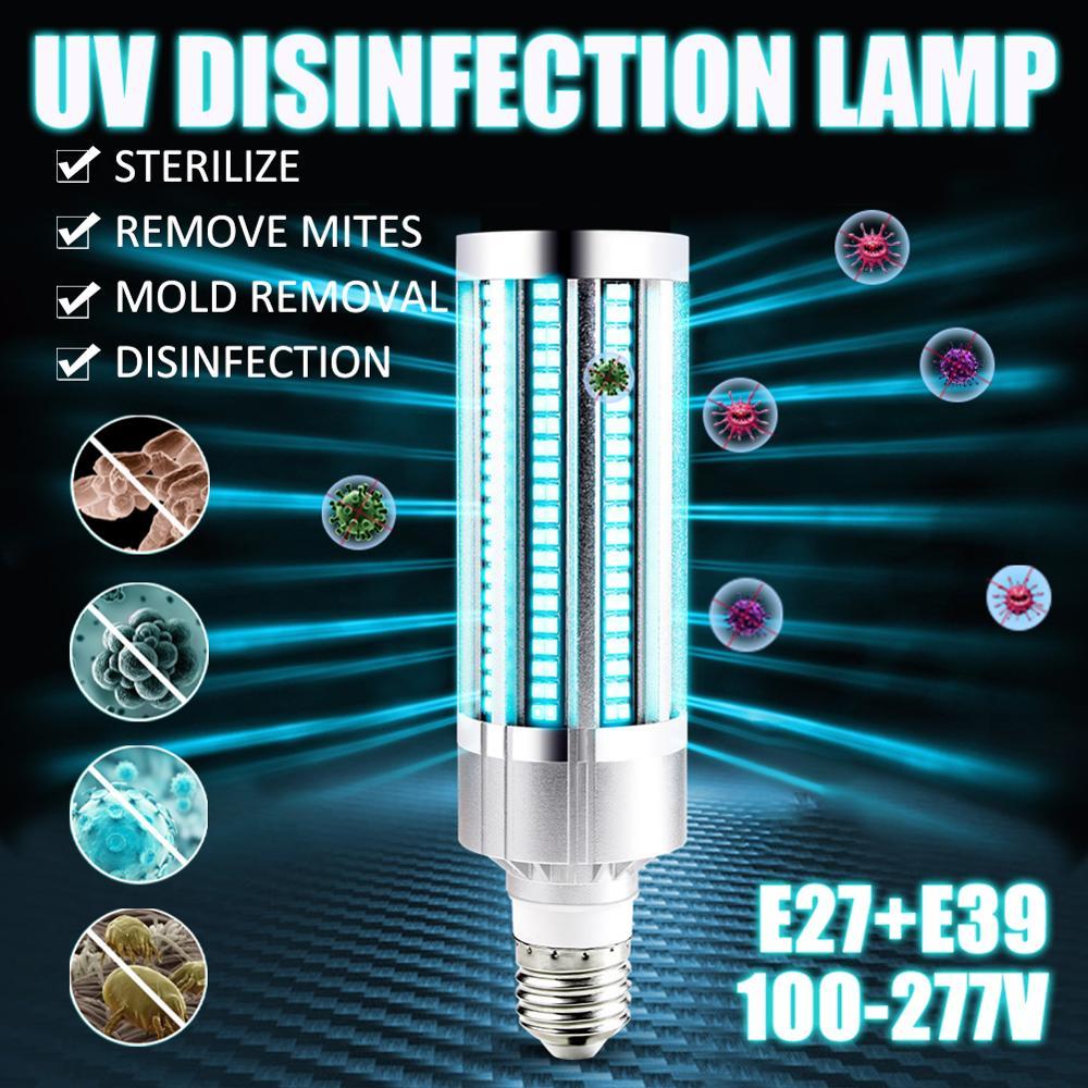UV Germicidal Lamp LED Disinfection  Bulb E27 UVC Light Sterilizer Household Ozone  Kill Dust Mite Eliminator Bulbs 100-277V