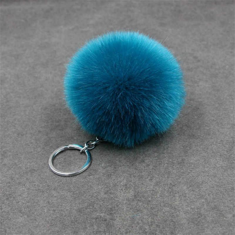 1PCS Blau Kawaii Plüsch Schlüssel Kette Party Favors Geschenke Familie Freund Baby Souvenirs Geburtstag Valentines Tag Geschenk Festliche