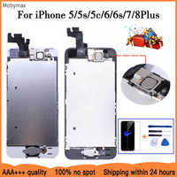 AAA+++ LCD Full Assembly For iPhone 5 5C 5S SE 6 7 8 Plus Touch Glass Display LCD Digitizer Replacement+Home Button+Front Camera