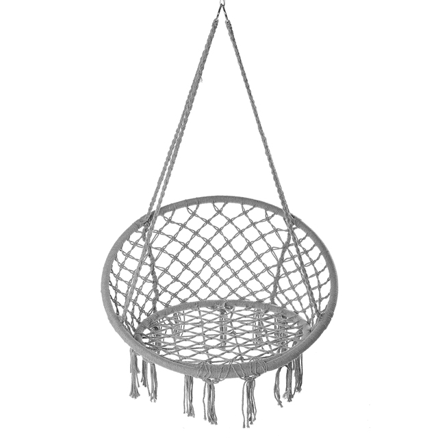 150KG Round Hammock Chair Outdoor Indoor Dormitory Bedroom Yard For Child Adult Swinging Hanging Single Safety Chair Hammock 4