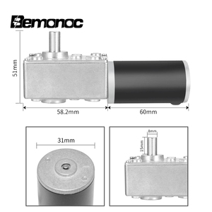 Image 3 - Bemonoc DC Gear Motor 12V 24V 8 470Rpm With Electric Gearbox Reducer High Torque Electric Turbo Gear Motor With Reductor For DIY