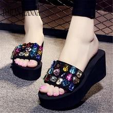 2019 al di fuori di usura skid fondo piatto pantofola versione femminile per il tempo libero moda slipper piattaforma di spessore dolce spiaggia di scarpe da donna nuove