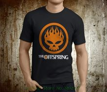 T Shirt Men Short Sleeve Funny New Popular The Offspring Skull Rock Band Men' S Black Tshirt Size S - 3xl(China)