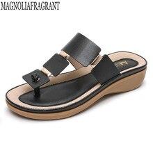 Moda feminina chinelos flip flops verão sapatos de praia cunhas slides meninas sandálias planas boêmio sandálias casuais e chinelos hy155
