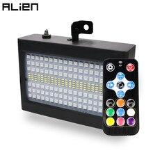 Светодиодный RGB Стробоскоп ALIEN 204 с белым светом для дискотеки, Праздничный музыкальный клубный звуковой эффект со сценическим освещением и ...