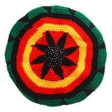 Renkli akrilik jamaika Rasta kökleri Tam şapka Rasta Reggae kap