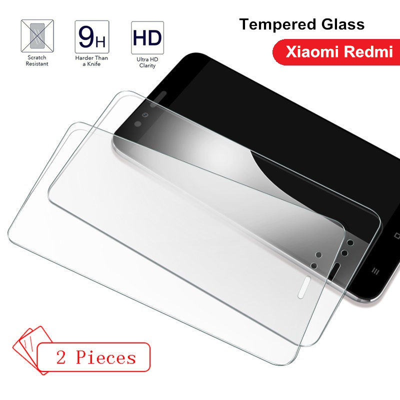2PCS Tempered Glass For Xiaomi Redmi Note 5 6 7 PRO Global Version Cover Film For Redmi 7 7A 6pro 6A 5 Plus 5A Screen Protector