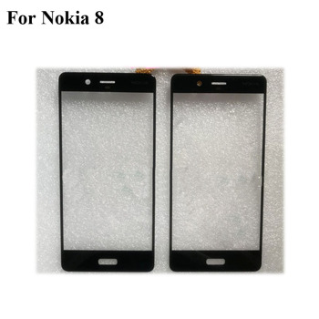 2PCS For Nokia 8 TA-1012 TA-1052 Front Outer Glass Lens Repair Touch Screen Outer Glass without Flex cable Nokia8