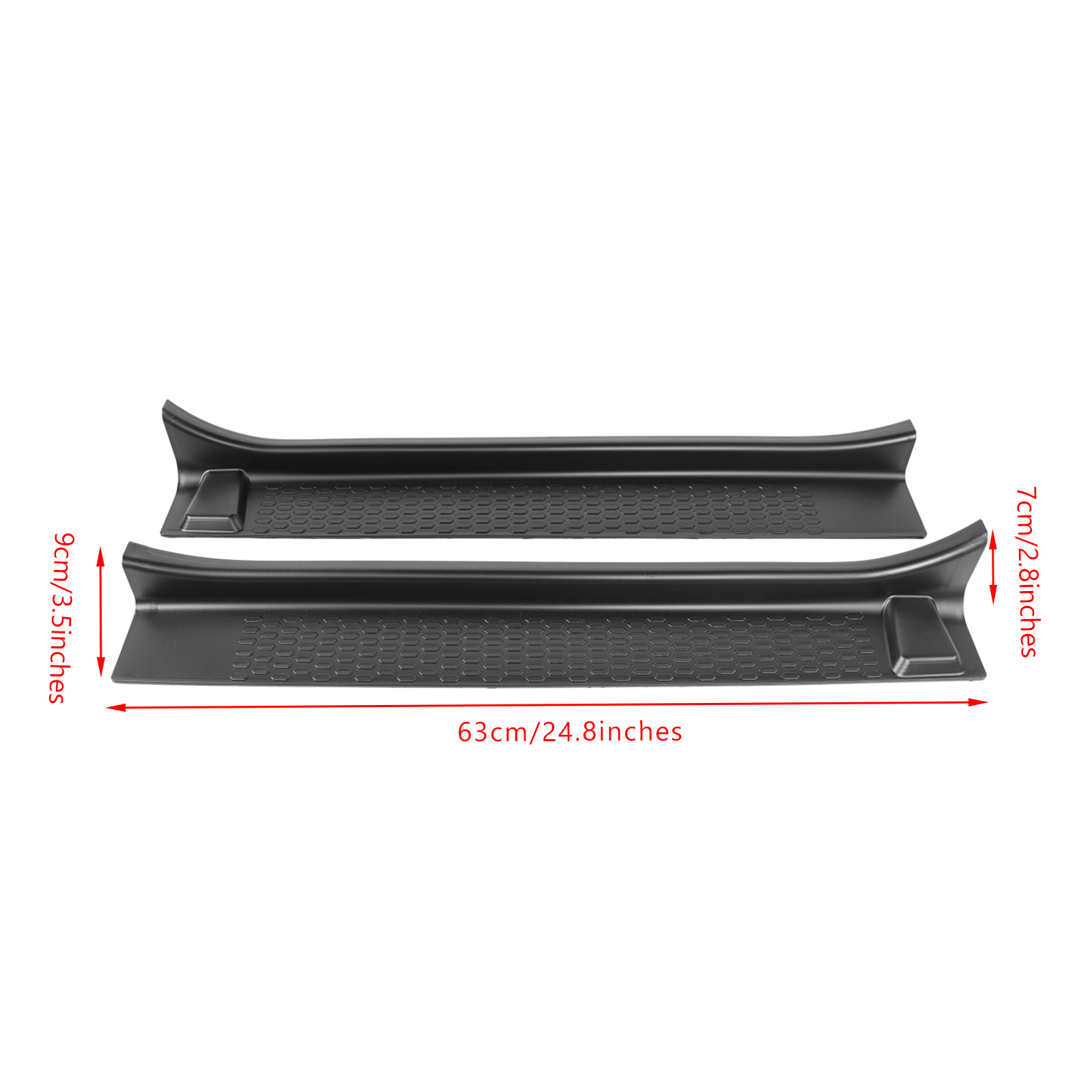 Areyourshop Black Car Scuff Plate Door Sill Guard Pedal For 2018-2020 Wrangler JL JT 2-Door