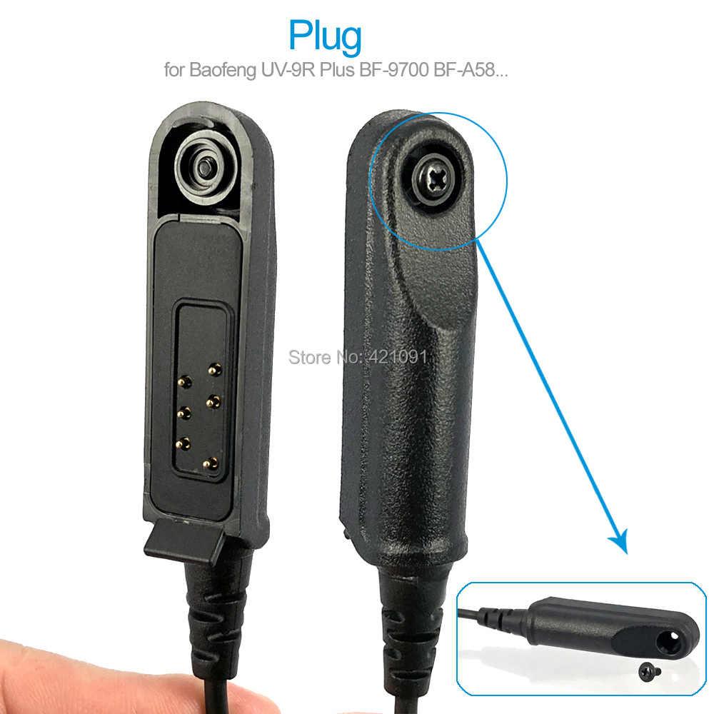 UV-9R Além de rádio Baofeng Talkie Walkie-Garganta Vibração Fone de Ouvido Fone De Ouvido Do Tubo de Ar para UV-XR A-58 GT-3WP Walkie Talkie Fone de Ouvido