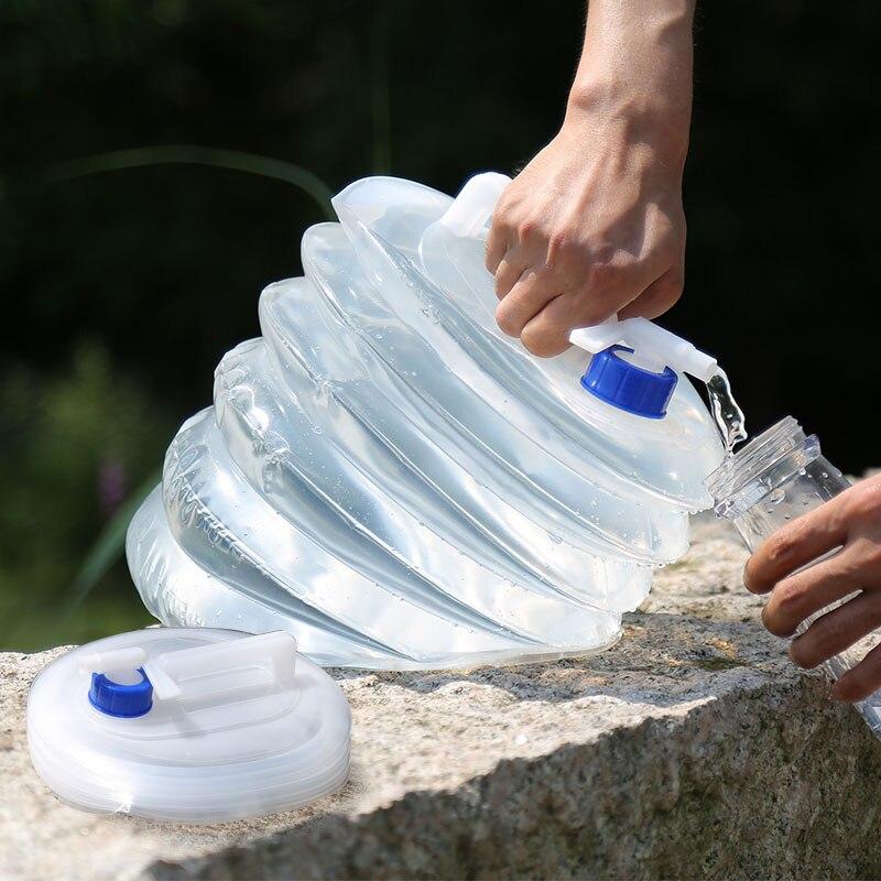 للطي حقيبة المياه PE يتقلص دلو الغذاء الصف في الهواء الطلق المحمولة غلاية غير سامة حماية البيئة سيارة أداة تخييم