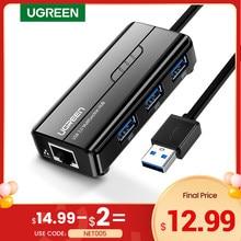 Ugreen USB Ethernet Netzwerk Karte USB 3,0 zu RJ45 USB HUB für Laptop Xiaomi Box 3/S Set-top Box Huawei PC Ethernet Adapter USB Lan