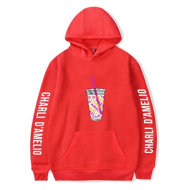 Charli Damelio Merch Print Ice Coffee Splatter Hoodie Women Men Sweatshirt Harajuku Hoodies Long Sleeve Tracksuit Pullover Womam 6