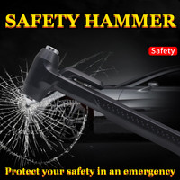 Auto Sicherheit Hammer Carbon Stahl Lebensdauer Auto Notfall Flucht Rettungs Werkzeuge Seatbelt Cutter Fenster Punch Glas Breaker Lange Griff