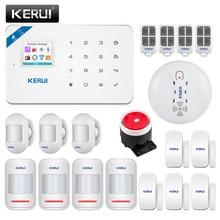 Kerui W18 1.7インチカラースクリーンwifi gsmホームセキュリティ警報システムワイヤレスappリモコンW18モーション検知アラームキット