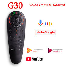 G30S Vocale A Distanza di Controllo 2.4G Wireless Air Mouse G30 33 tasti di apprendimento IR Gyro Sensing Smart Remote per Android TV BOX Gioco PC