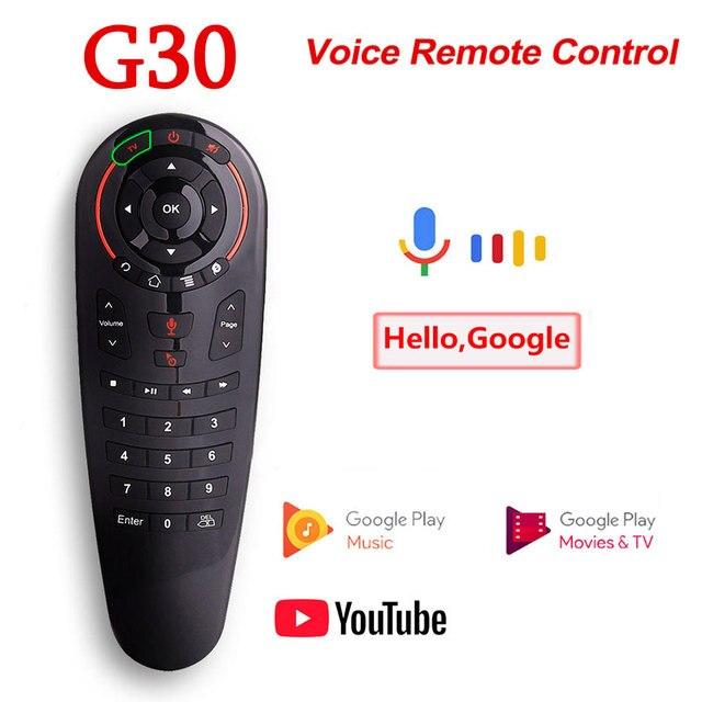 G30S ses uzaktan kumanda 2.4G kablosuz hava fare G30 33 keys IR öğrenme Gyro algılama için akıllı uzaktan Android TV kutusu oyun PC