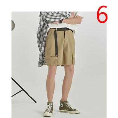 Summer Solid Color Loose Shorts Men's Thin Section Beach Pants Men's Trend Casual Five Pants Pants