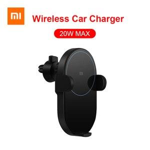 Image 1 - Беспроводное Автомобильное зарядное устройство Xiaomi Mijia, 20 Вт Max Qi электрическое автоматическое зажимное кольцо 2.5D со стеклянным кольцом для Mi 9 MIX 2S iPhone X XS MAX