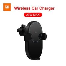 Xiaomi Mijia Ô Tô Không Dây Sạc 20W Max Tề Điện Tự Động Kẹp 2.5D Kính Vòng 1 Cho Mi 9 Mix 2S X XS Max