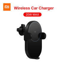 Xiaomi Mijia Wireless Car Charger 20W Max Qi Electric Auto Pinch 2.5D Glass Ring Lit For Mi 9 MIX 2S iPhone X XS MAX