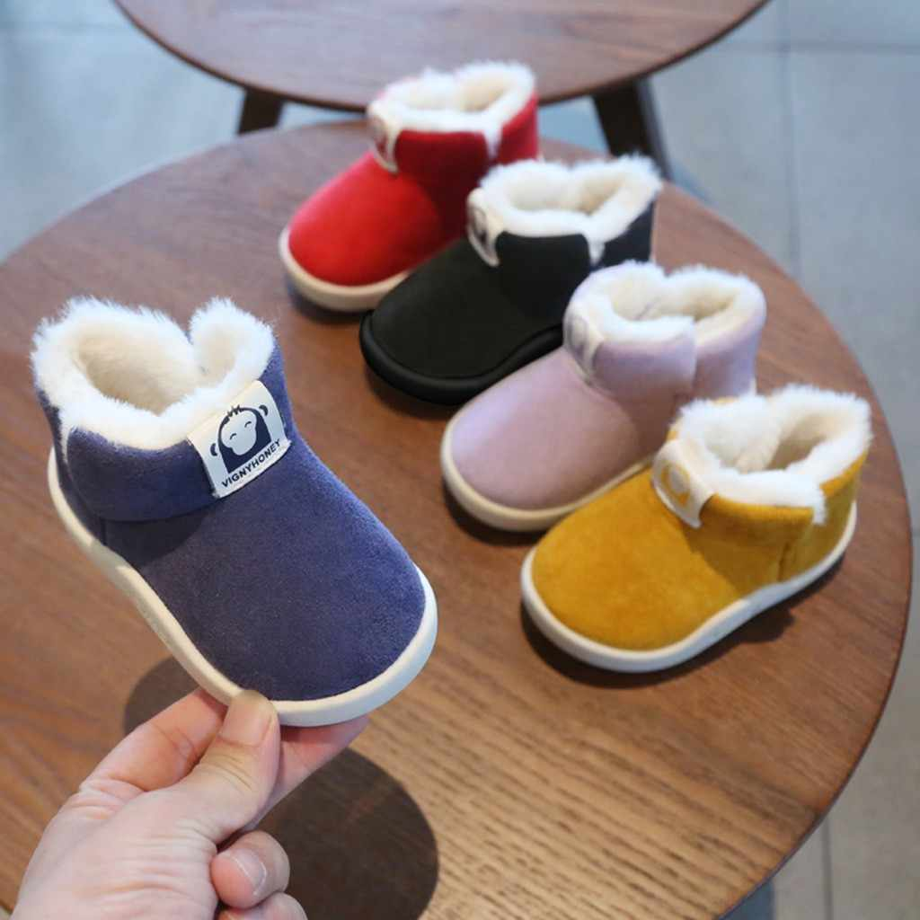Cartoon Ankle Kids Boots Toddler Infant Kid Baby Boys Girls Winter Warm Short Boots Booties Shoes Meisjes Laarzen Toddler Boots