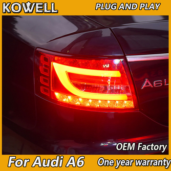 KOWELL Car Styling Tail Lamp for Audi A6 2005-2008 taillights Tail Lights LED Rear Lamp LED DRL+Brake+Park+Signal Stop Lamp