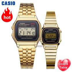 Casio orologio d'oro della vigilanza degli uomini di set di marca di lusso LED digitale Impermeabile Del Quarzo degli uomini della vigilanza di Sport militare Orologio Da Polso relogio masculino
