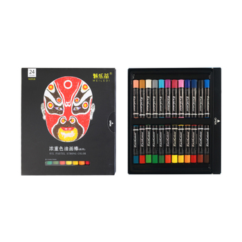 12/24/36 Colors Heavy Color Oil Pastel Mei Ledi Heavy Color Oil Pastel Crayons Children's Brush Drawing Stationery Sets Daubers image