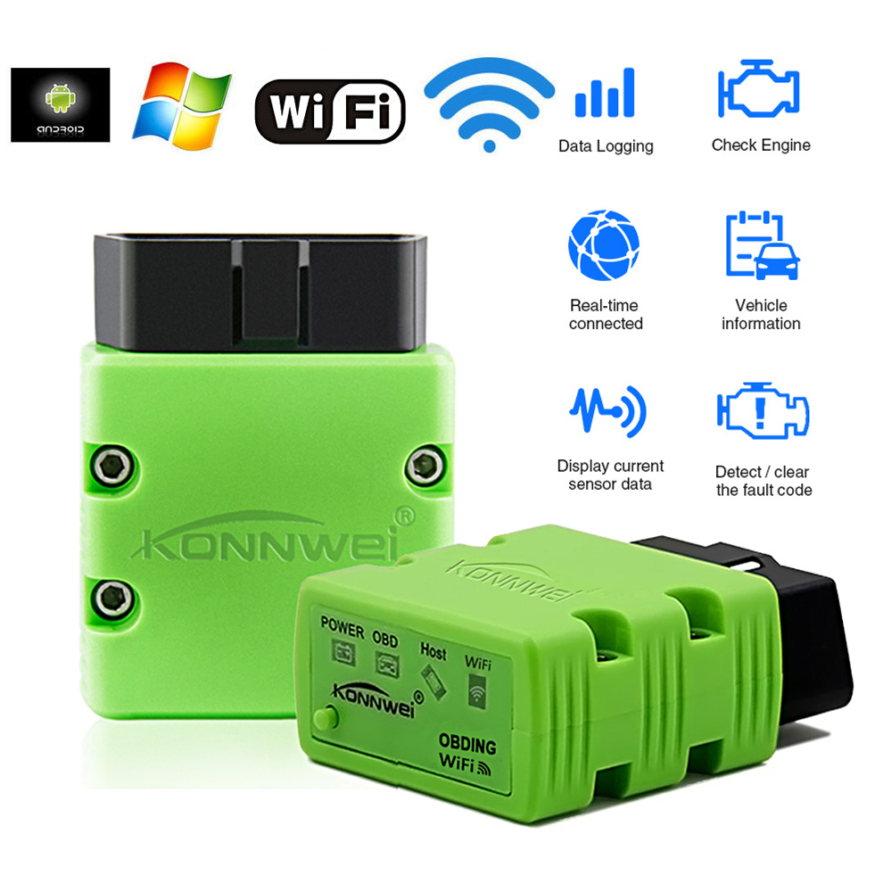 Wifi Bluetooth Car Scanner For Opel Citroen Peugeot Skoda Jeep Mitsubishi Suzuki ELM327 V1.5 OBD2 IPhone Android Diagnostic Tool