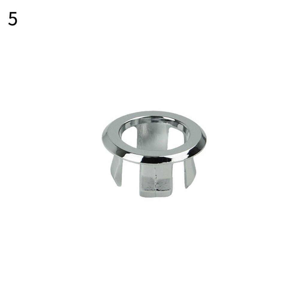 1 шт. ванная раковина кольцо для защиты от переполнения шестифутовая круглая вставка хромированное отверстие крышка - Цвет: 5