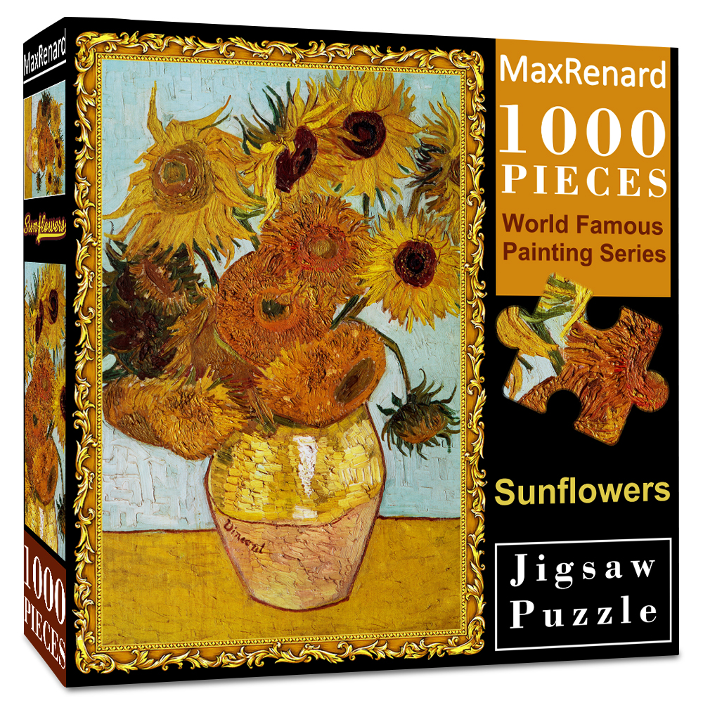 MaxRenard Jigsaw Puzzles 1000 Pieces 50*70cm The Kiss Wooden Assembling Painting World Masterpiece Puzzles Toys for Adults Games 9