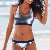 New Sexy Striped Beach Bikini