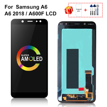 AMOLED For Samsung Galaxy A6 2018 LCD A600 SM-A600F A600FN Display With Touch Screen Digitizer Assembly For A600 LCD