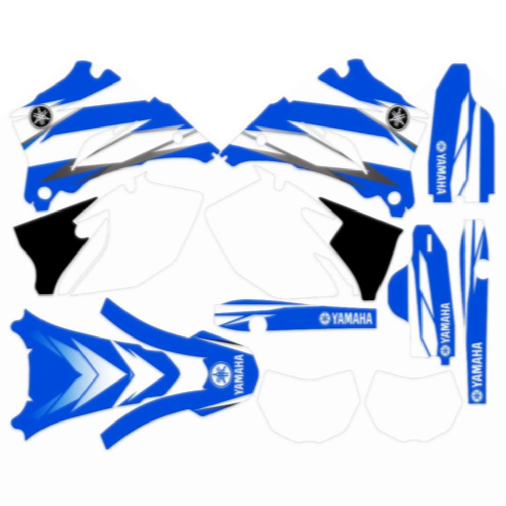 New Full Graphics Decals Stickers Custom Number Name 3M Bright Waterproof For YAMAHA WR250F 2007-2014 And 450F 2007-2011