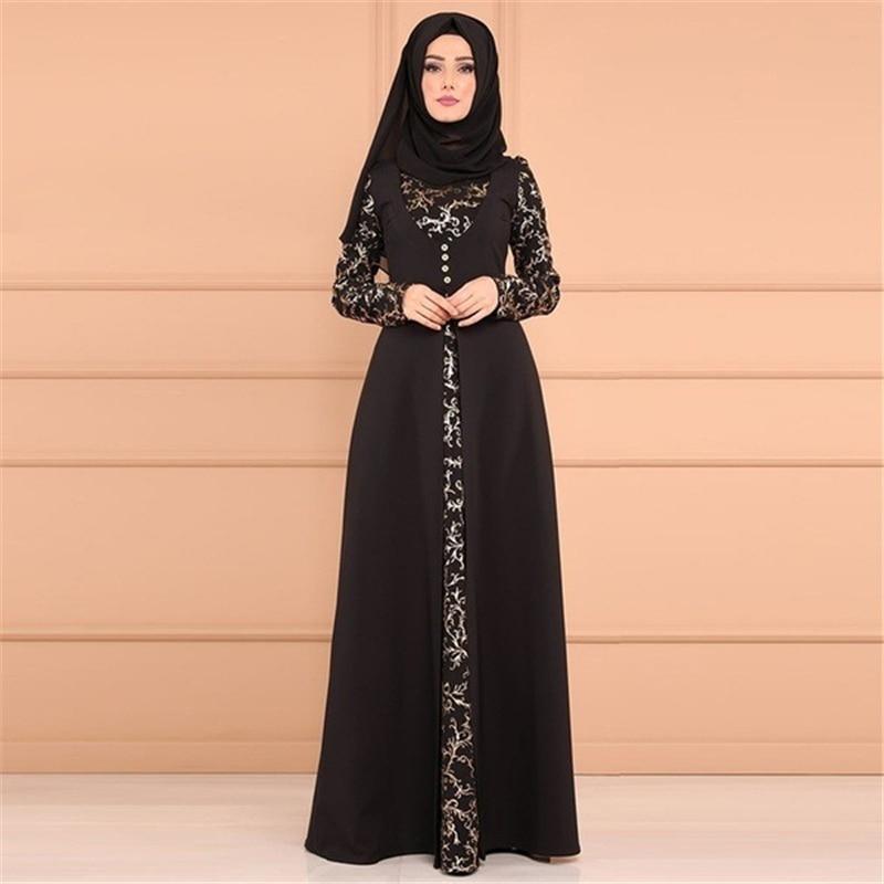 2021 Kaftan Robe Dubai Islam Muslim Maxi Dress Abayas Caftan Marocain Qatar Oman Muslim Clothing without