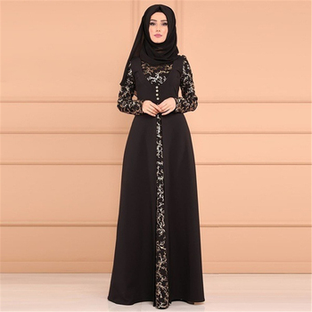 2021 Kaftan Robe Dubai Islam Muslim Maxi Dress Abayas Caftan Marocain Qatar Oman Muslim Clothing