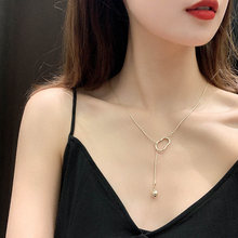 цена на Fashion temperament necklace female Retro irregular geometry contracted metal clavicle chain Necklace For Women wedding jewelry