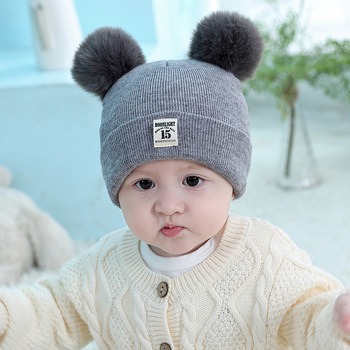 Knitted Kids Beanie Cap Infant Baby Boy Girl Hat Warm Children Baby Autumn Winter Girls Hat For Kids Toddler Bonnet Enfant Warm 1pc new spring warm cotton baby hat girl boy toddler infant kids caps candy color cute baby beanies accessories