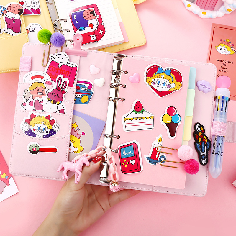 2020 Kawaii Yearly Diary Weekly Planner Monthly Daily Planner Organizer Paper Notebook A6 Cute Stickers School Suplise Agendas