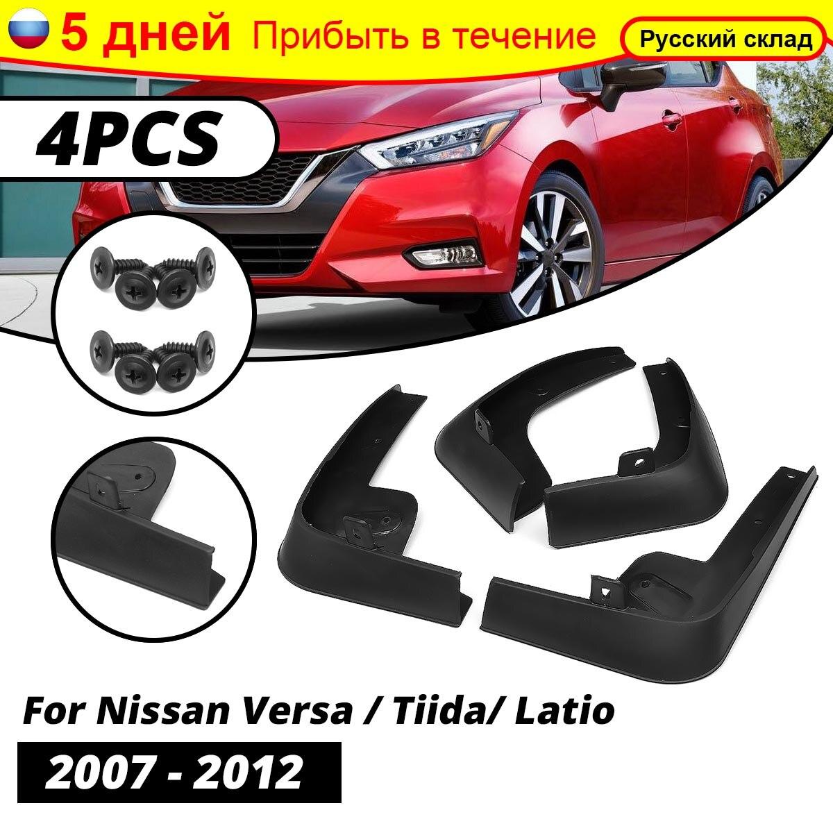 Vorne Hinten Schlamm Flaps für Nissan Tiida Versa C11 2007-2011 Fließheck Fender Splash Kotflügel Klappe Auto Zubehör