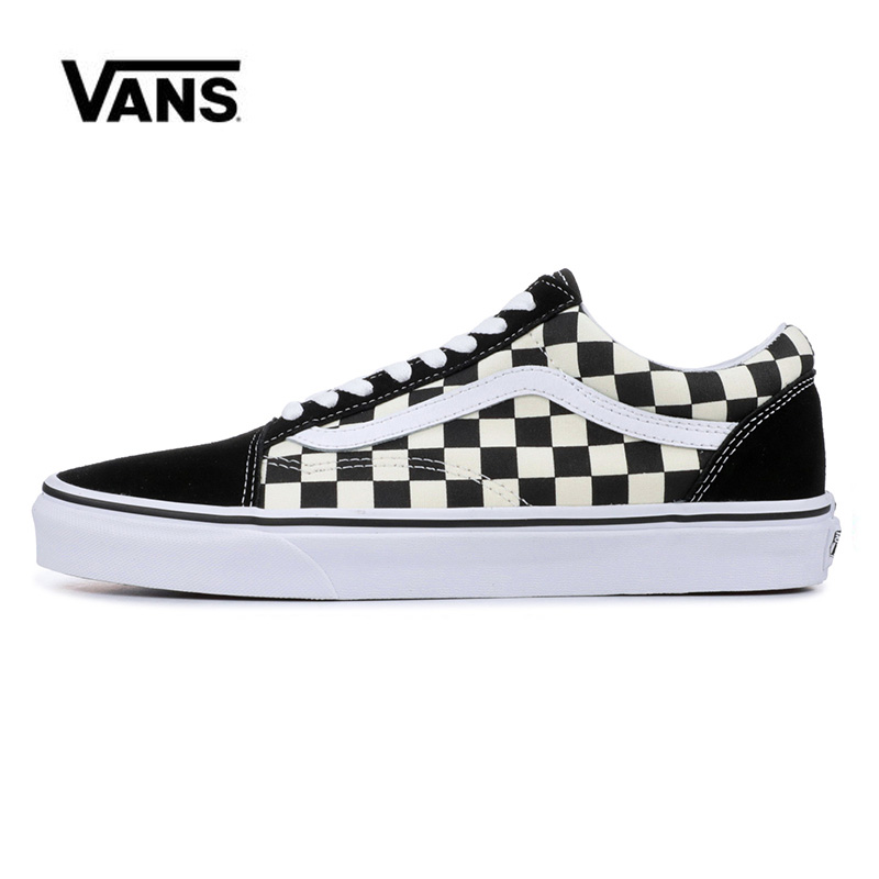 Original Classic Vans Old Skool Classic Red Black Plate Grid  Platform Low Skateboarding Shoes Sneakers Canvas Shoes VN0A38G1P0S