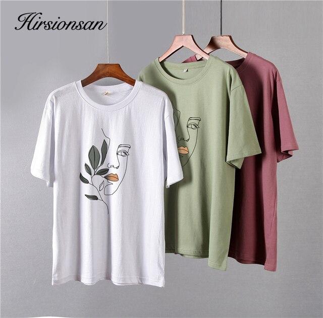 Свободная женская футболка хлопковая высокого качества с изображением 6
