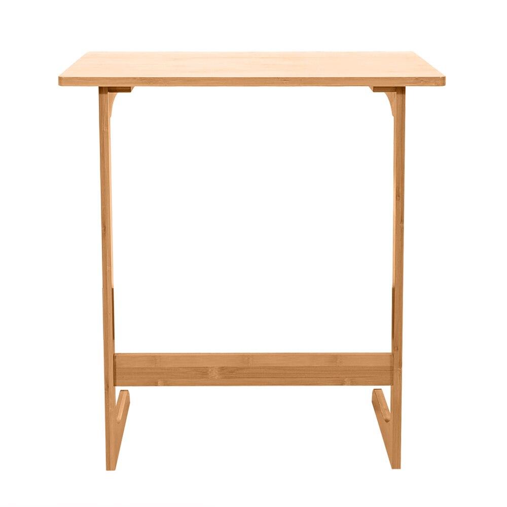 60x40x65cm en forme de L bambou canapé Table d'appoint sandale couleur bois côté ordinateur portable devoirs bureau paresseux Table pour la lecture