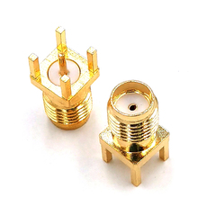 SMA Female Jack Solder Nut Edge PCB Clip Straight Mount Gold Plated RF Connector Receptacle Solder цена 2017