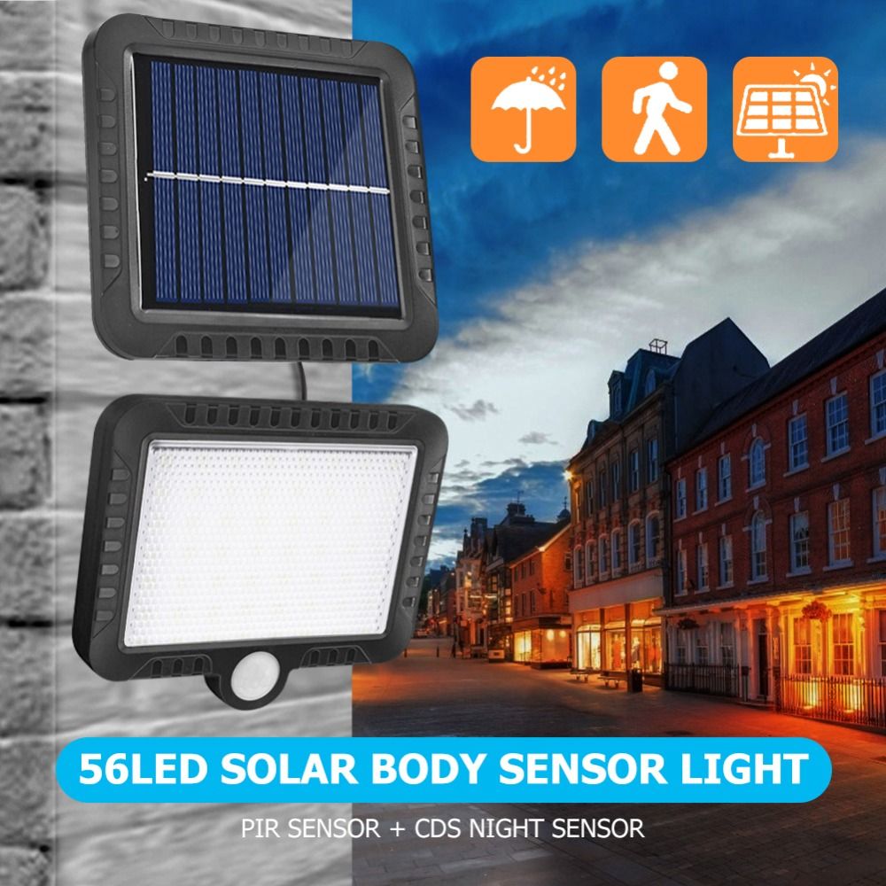 COB Wall Mounted Solar Outdoor Light with 120LED and Motion Sensor Suitable for Street and Garden 28