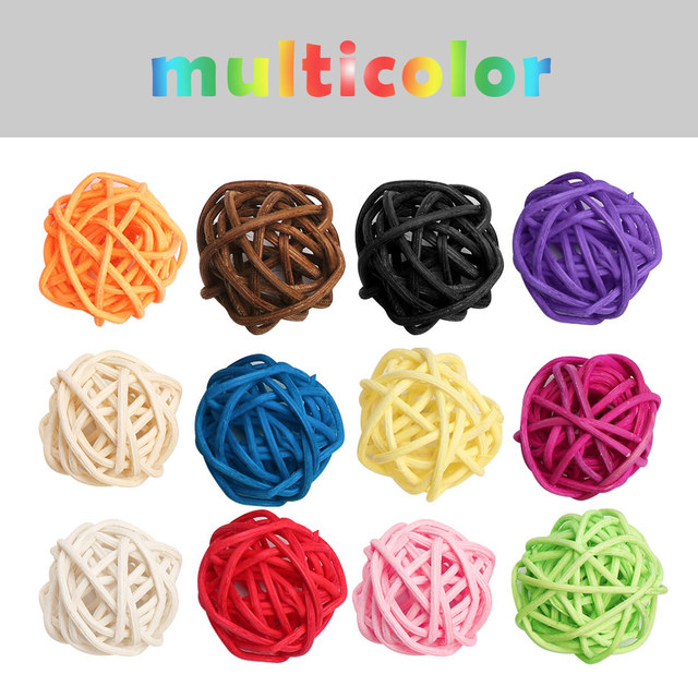 Details about  /10Pcs 3CM Colorful Rattan Ball DIY Making Craft Wedding Party Home Decoration US